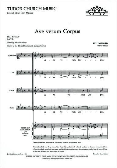 ave verum corpus bill byrd examination essay