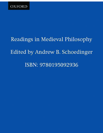 Readings in Medieval Philosophy