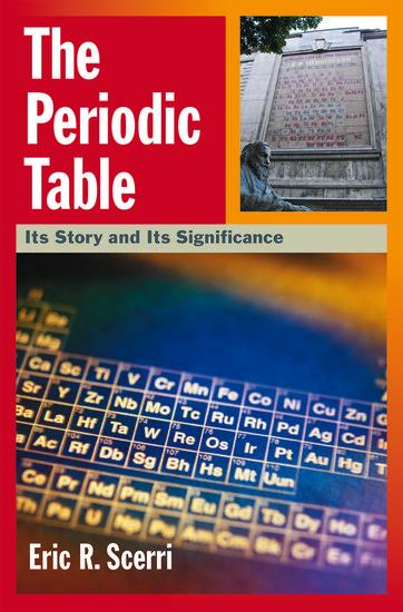 The Periodic Table Eric R Scerri Oxford University Press