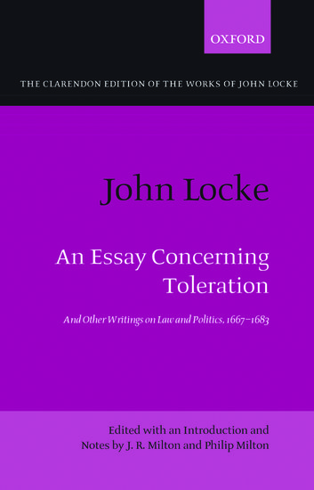 An essay concerning toleration summary