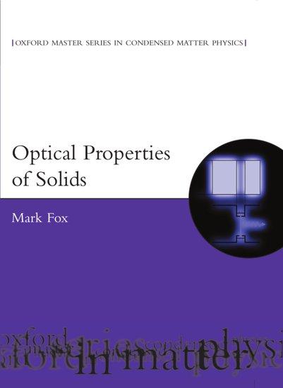 Optical Properties Of Solids Mark Fox Oxford University Press