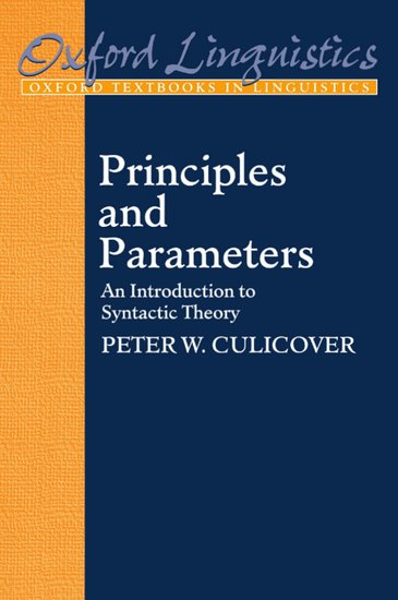 comparative in oxford parameter polysynthesis study syntax The minimalist program  the polysynthesis parameter oxford:  the principles-and-parameters approach: a comparative syntax of.