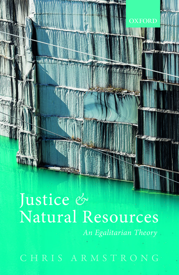 Justice And Natural Resources Chris Armstrong Oxford University