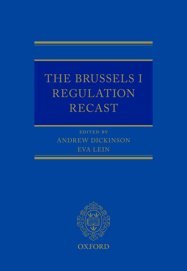 Brussels I Regulation Recast (OUP)
