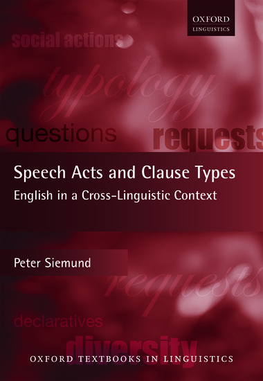 speech acts and clause types paperback peter siemund oxford