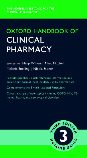 Oxford Handbook Of Clinical Pharmacy Philip Wiffen Marc Mitchell