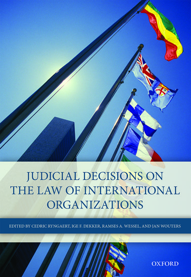 Judicial Decisions on the Law of International Organizations