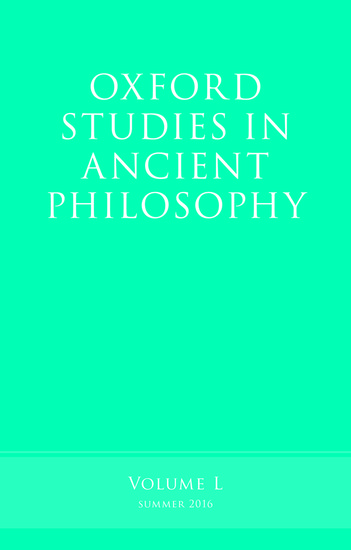 Sample cover of Oxford Studies in Ancient Philosophy