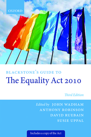 Blackstones Guide To The Equality Act 2010 John Wadham Anthony