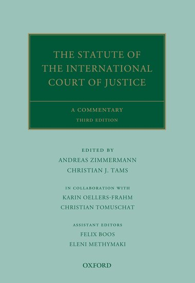 The Statute of the International Court of Justice