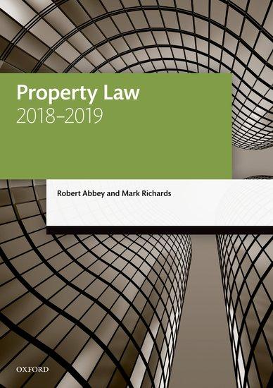 Property Law 2018-2019