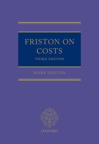 Friston on costs mark friston oxford university press fandeluxe Images