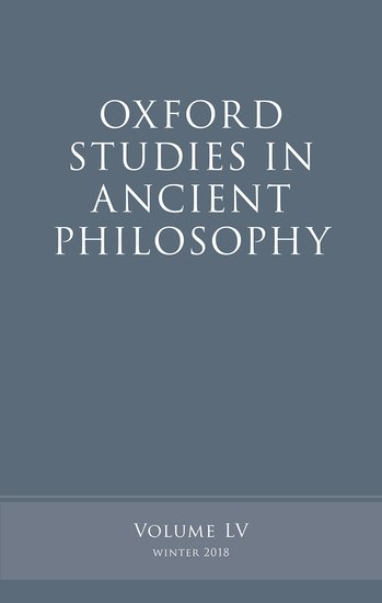 Oxford Studies in Ancient Philosophy, Volume 55