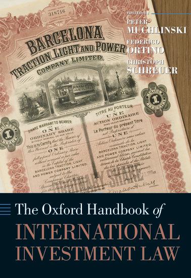 The Oxford Handbook Of International Investment Law border=