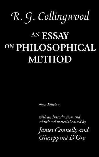 An essay in philosophical method collingwood