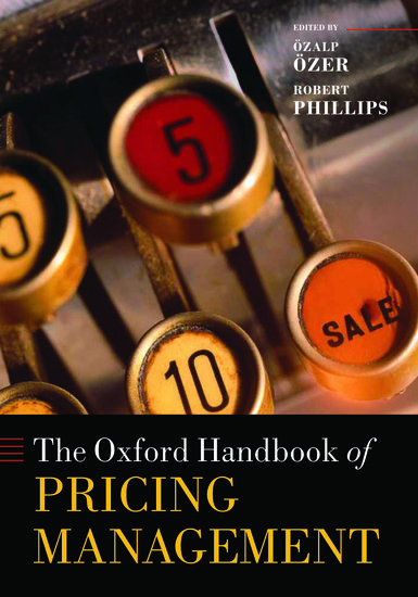 The Oxford Handbook Of Pricing Management Hardcover Zalp Zer