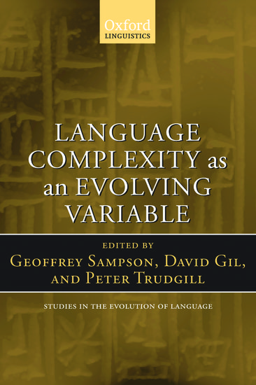 Language Complexity As An Evolving Variable Paperback Geoffrey