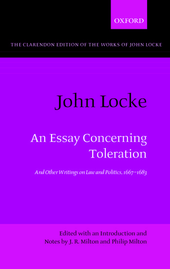john locke an essay concerning toleration paperback j r  john locke an essay concerning toleration paperback j r milton philip milton oxford university press