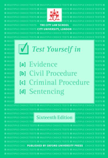 Test Yourself In Evidence, Civil Procedure, Criminal
