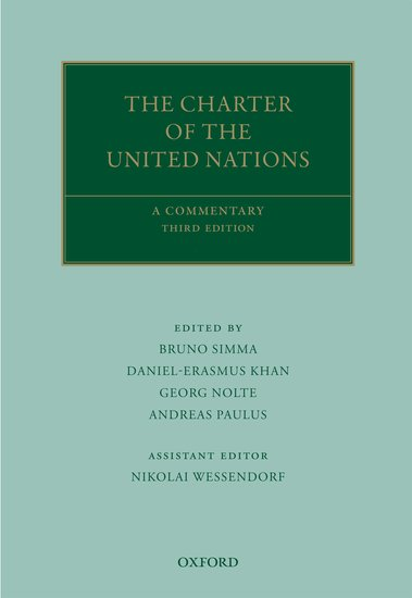The Charter Of The United Nations Bruno Simma Daniel Erasmus Khan