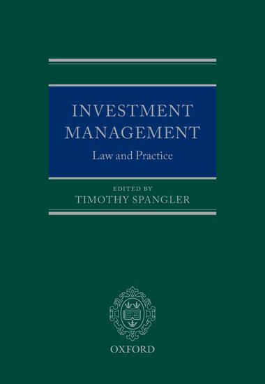 Investment Management Timothy Spangler Oxford University Press