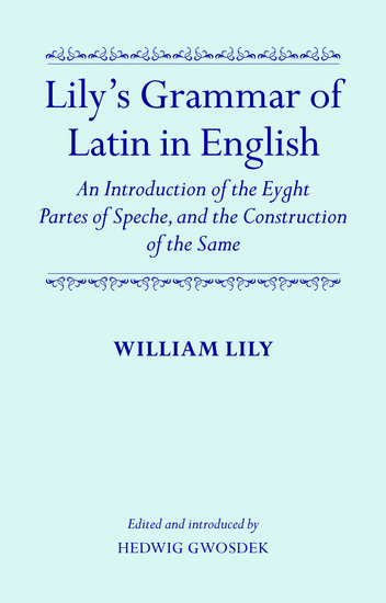 lily u0026 39 s grammar of latin in english - william lily