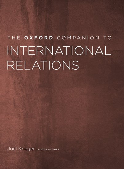 The Oxford Companion to International Relations