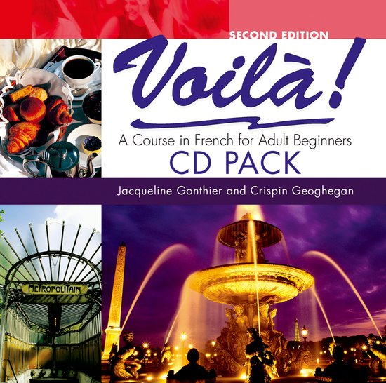 adult beginner book cassette course french in pack voila