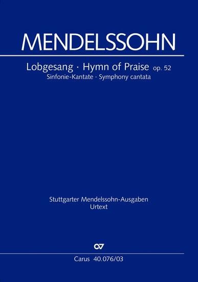Vocal Music Score Mendelssohn Hymn Of Praise