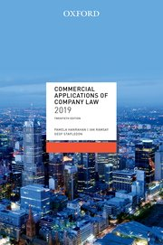 Cover for Commercial Applications of Company Law 2019