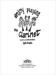 Enjoy Playing the Clarinet Piano Accompaniments