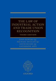 Cover for The Law of Industrial Action and Trade Union Recognition