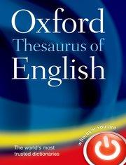oxford thesaurus of english oxford university press