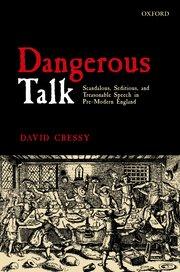 Cover for   Dangerous Talk
