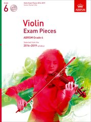 Violin Exam Pieces 2016-2019, ABRSM Grade 6, Score, Part and 2 CDs