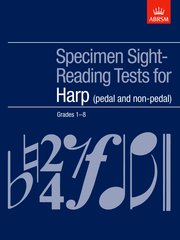 Specimen Sight-Reading Tests for Harp, Grades 1-8 (pedal and non-pedal)