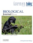 Cover for Biological Journal of the Linnean Society - 10958312