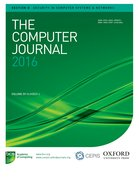 Cover for The Computer Journal