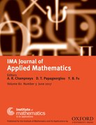 Cover for IMA Journal of Applied Mathematics