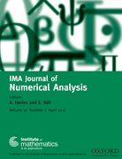 Cover for IMA Journal of Numerical Analysis