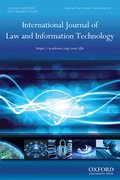 Cover for International Journal of Law and Information Technology