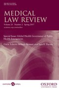 Cover for Medical Law Review