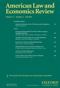 Cover for American Law and Economics Review - 14657260