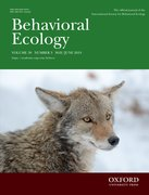 Cover for Behavioral Ecology