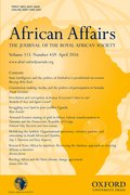 Cover for African Affairs - 14682621