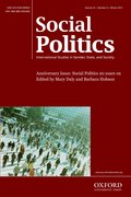 Cover for Social Politics: International Studies in Gender, State & Society