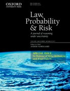 Cover for Law, Probability and Risk