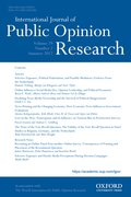 Cover for International Journal of Public Opinion Research