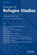 Cover for Journal of Refugee Studies