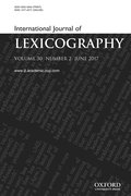 Cover for International Journal of Lexicography